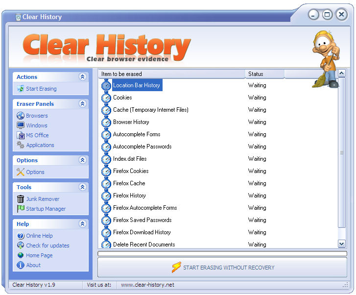 Clear History 1.9 full